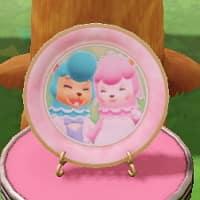 カイゾーとリサの絵皿リサとカイゾーの絵皿